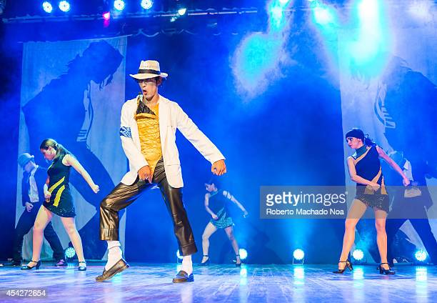 Michael Jackson impersonator performing in a resort in the nothern keys of the central region of Cuba where tourism is developing the fastest in the...