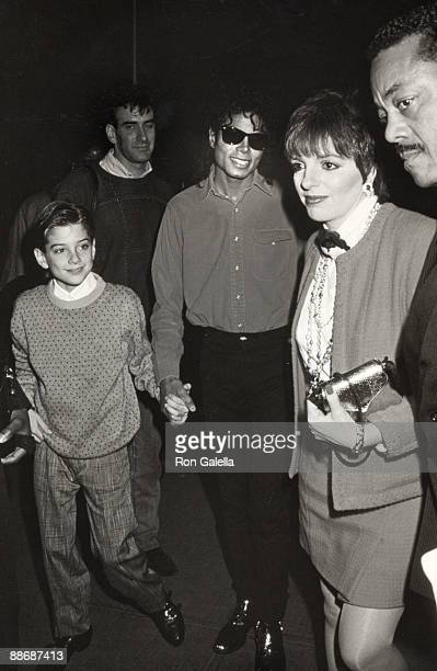 Michael Jackson Jimmy Safechuck and Liza Minnelli