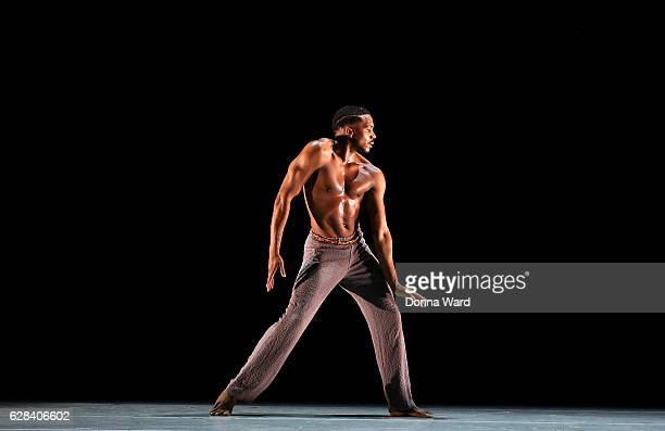 Michael Jackson Jr performs during Alvin Ailey American Dance Theater's rehearsal of 'Completed Untitled America' by Kyle Abraham at New York City...