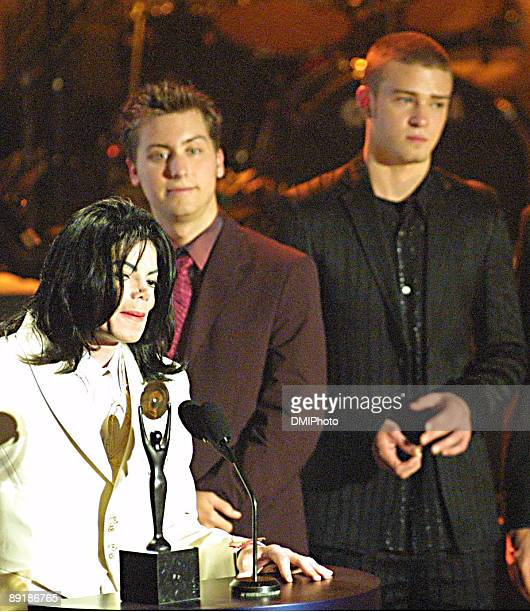 Michael Jackson Lance Bass and Justin Timberlake