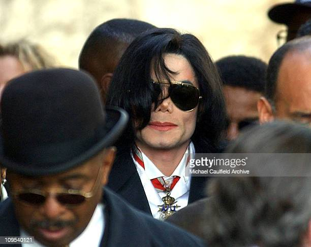 Michael Jackson leaves the Santa Maria Courthouse Friday Jan 16 2004