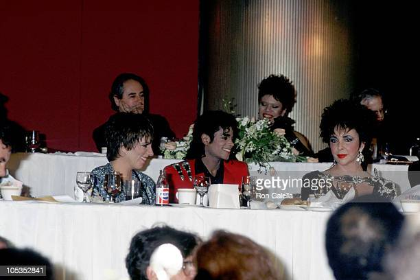 Michael Jackson Liz Taylor and Liza Minnelli during Michael Jackson Awarded with Honorary Doctorate from Fisk University at Sheraton Centre in New...