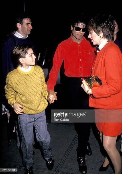 Michael Jackson Liza Minnelli and Jimmy Safechuck