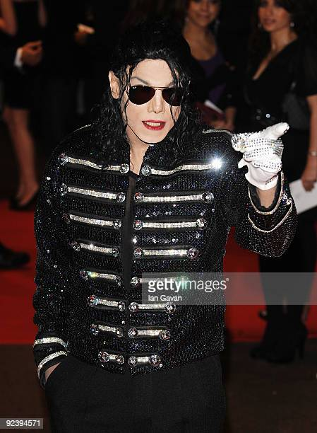 Michael Jackson lookalike attends the 'This Is It' UK film premiere at the Odeon Leicester Square on October 27 2009 in London England