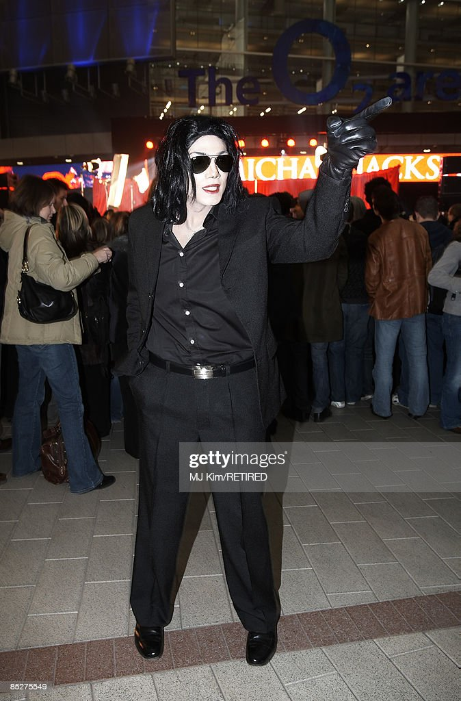 A Michael Jackson look-alike wait to see Michael Jackson announce plans for Summer residency at the O2 Arena at a press conference held at the O2 Arena on March 5, 2009 in London, England.