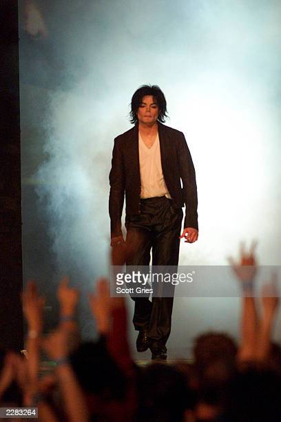 Michael Jackson onstage at the 2001 MTV Video Music Awards held at the Metropolitan Opera House at Lincoln Center in New York City on September 6...