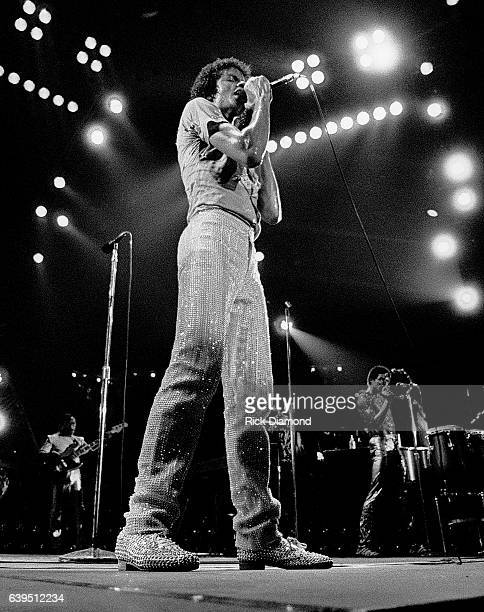 Michael Jackson performs during The Jacksons Triumph Tour at The Omni Coliseum in Atlanta Georgia July 22 1981