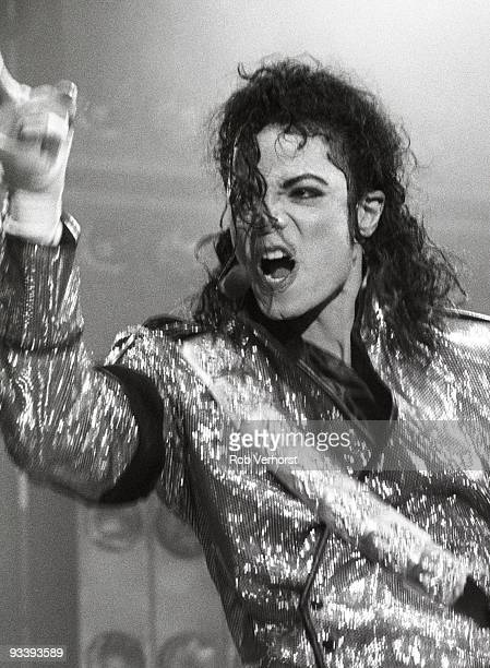 Michael Jackson performs live at the Feijenoord Stadium Rotterdam Holland on June 30 1992 during his Dangerous tour
