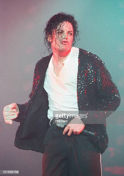 Michael Jackson performs live on stage in Jerudong Park on 16th July 1996 in Brunei