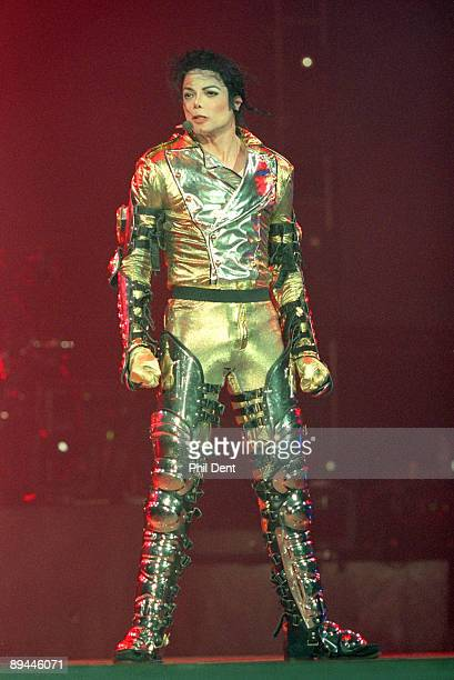 Michael Jackson performs on stage on his HIStory tour in 1996