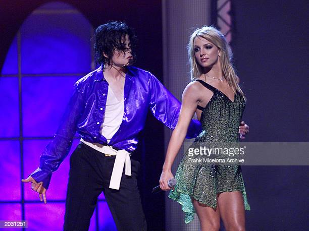 Michael Jackson performs with Britney Spears during the Michael Jackson '30th Anniversary Celebration The Solo Years' concert at New York's Madison...