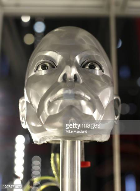 Michael Jackson robot mask from the film Moonwalker seen during the TV Memorabilia Auction preview Photocall at BFI IMAX on September 6 2018 in...
