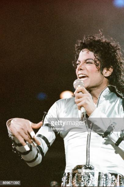 Michael Jackson seen here in concert at Milton Keynes 10th September 1988