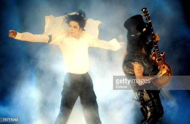 Michael Jackson Slash during The 12th Annual MTV Video Music Awards at the Radio City Music Hall in New York New York