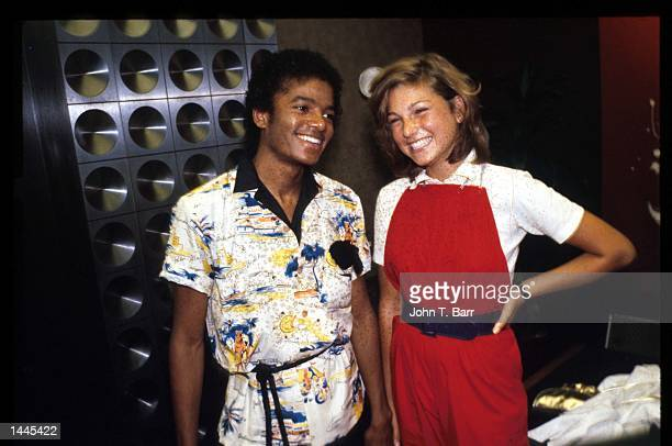 Michael Jackson stands with actress Tatum O''Neal at an event July 1 1979 in the USA During the July 4th weekend of 1979 The Jacksons'' hit single...