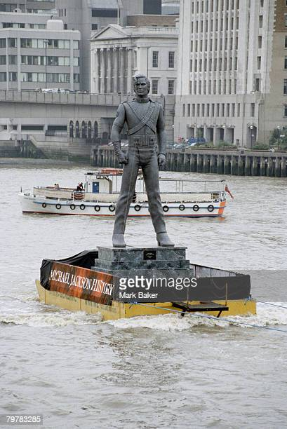 Michael Jackson Statue For History Launch On The River Thames London