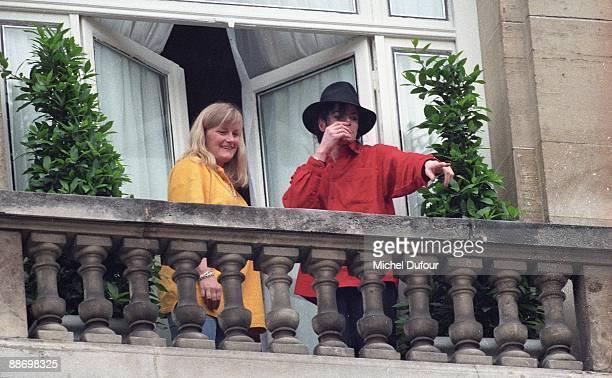 PARIS Michael Jackson with Debbie Rowe in 1997 in Paris France