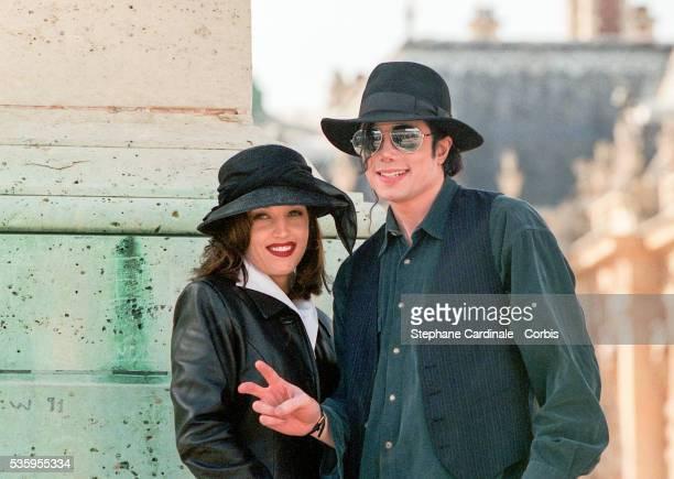 Michael Jackson with his wife Lisa Marie Presley
