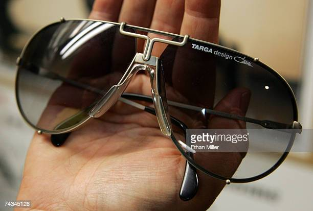 Michael Jackson's aviatorstyle Targa sunglasses are on display at The Joint music venue inside the Hard Rock Hotel Casino May 27 2007 in Las Vegas...
