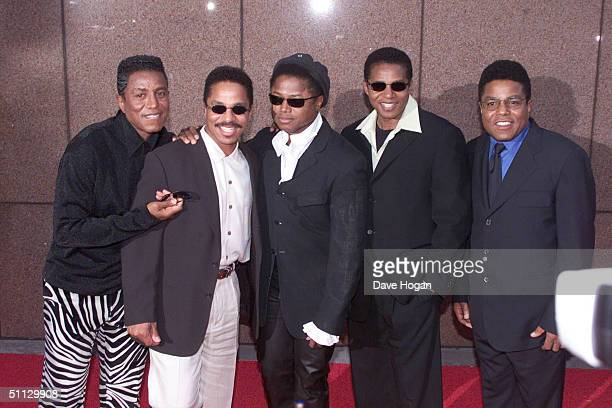 Michael Jackson's brothers arrive at his 30th anniversary celebration on 10th September 2001 in Madison Square Garden in New York