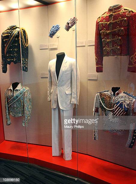 Michael Jackson's exhibit during Ritchie Valens Day at The GRAMMY Museum on July 3 2009 in Los Angeles California