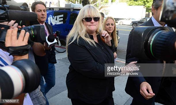 Michael Jackson's exwife Debbie Rowe arrives at court on Los Angeles on August 15 in the ongoing trial of a negligence lawsuit filed by the late...