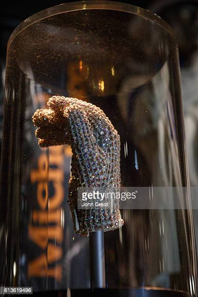 Michael Jackson's glove is seen at the Rock and Roll Hall of Fame in Cleveland Ohio is seen July 4 2016 The Rock and Roll Hall of Fame Foundation was...
