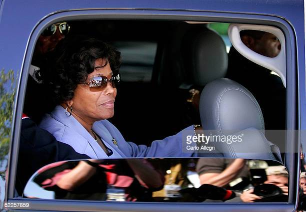 Michael Jackson's mother Katherine Jackson is seen in the car as they depart the first day of opening statements in his child molestation trial...