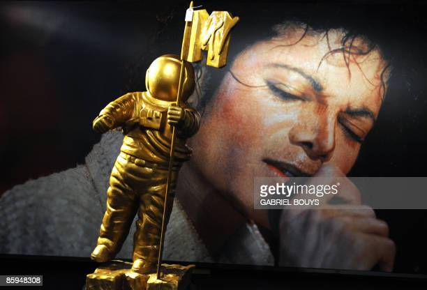 A Michael Jackson's MTV award statue is seen on display in Beverly Hills California April 13 2009 Thousands of items owned by Jackson will be...