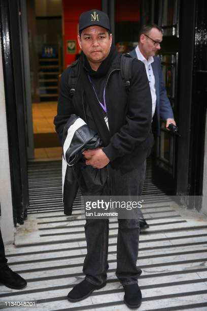 Michael Jackson's nephew Taj Jackson seen leaving BBC Radio Two Studios after speaking out about the 'Leaving Neverland' documentary on March 06 2019...