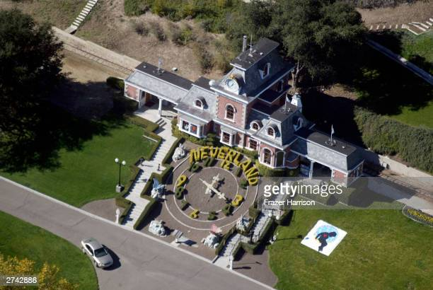 Michael Jackson's Neverland Ranch is shown November 18 2003 outside of Santa Barbara California Police armed with a search warrant swarmed Jackson's...