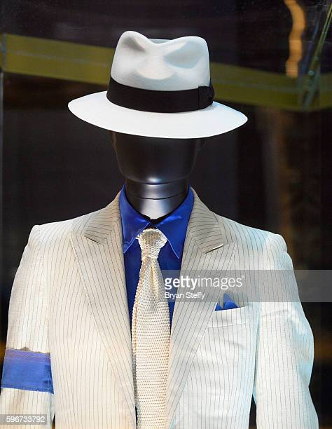 Michael Jackson's outfit from his Smooth Criminal music video is displayed after it was unveiled by the Estate of Michael Jackson and the Michael...