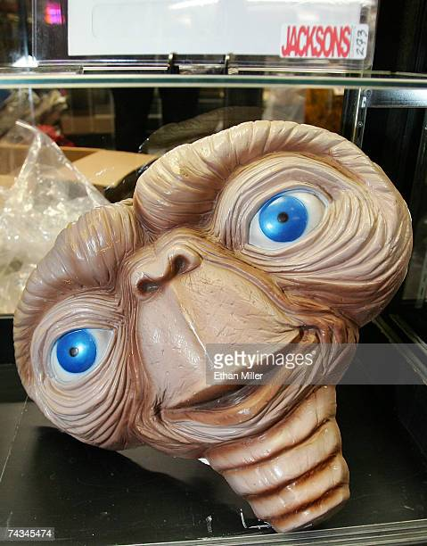 Michael Jackson's sculptural prototype from the movie ET is on display at The Joint music venue inside the Hard Rock Hotel Casino May 27 2007 in Las...