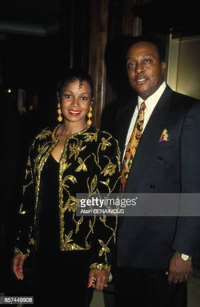 Michael Jackson's sister Rebbie Jackson and her husband Nathaniel Brown in Geneva on March 20, 1993 in Geneva, Switzerland.