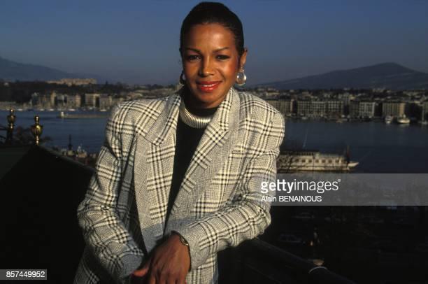 Michael Jackson's sister Rebbie Jackson in Geneva on March 20, 1993 in Geneva, Switzerland.