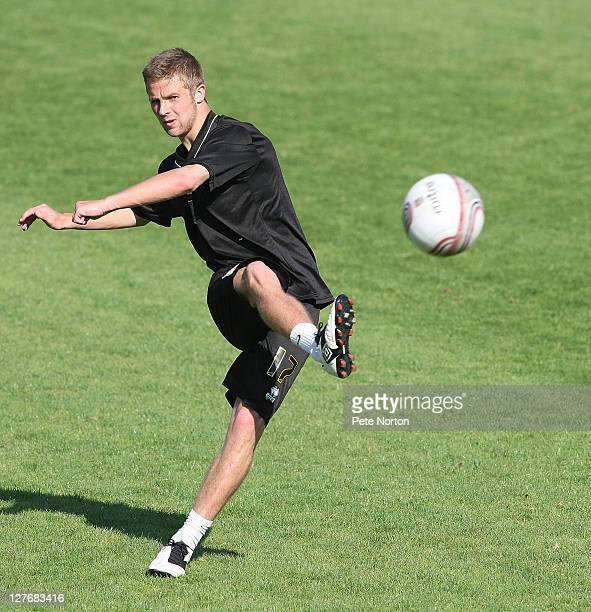 Michael Jacobs of Northampton Town in action during a training session at Sixfields Stadium on September 30 2011 in Northampton England
