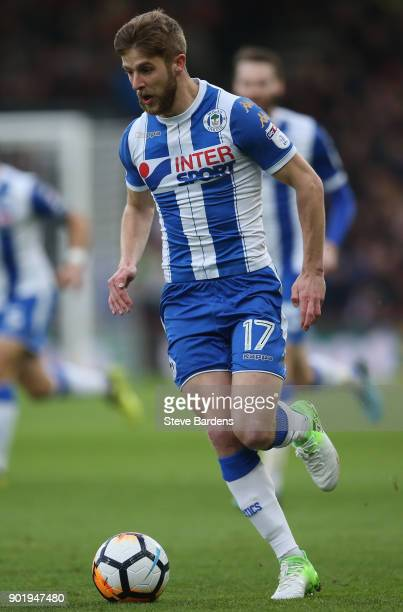 Michael Jacobs of Wigan Athletic in action during the Emirates FA Cup Third Round match between AFC Bournemouth and Wigan Athletic at Vitality...