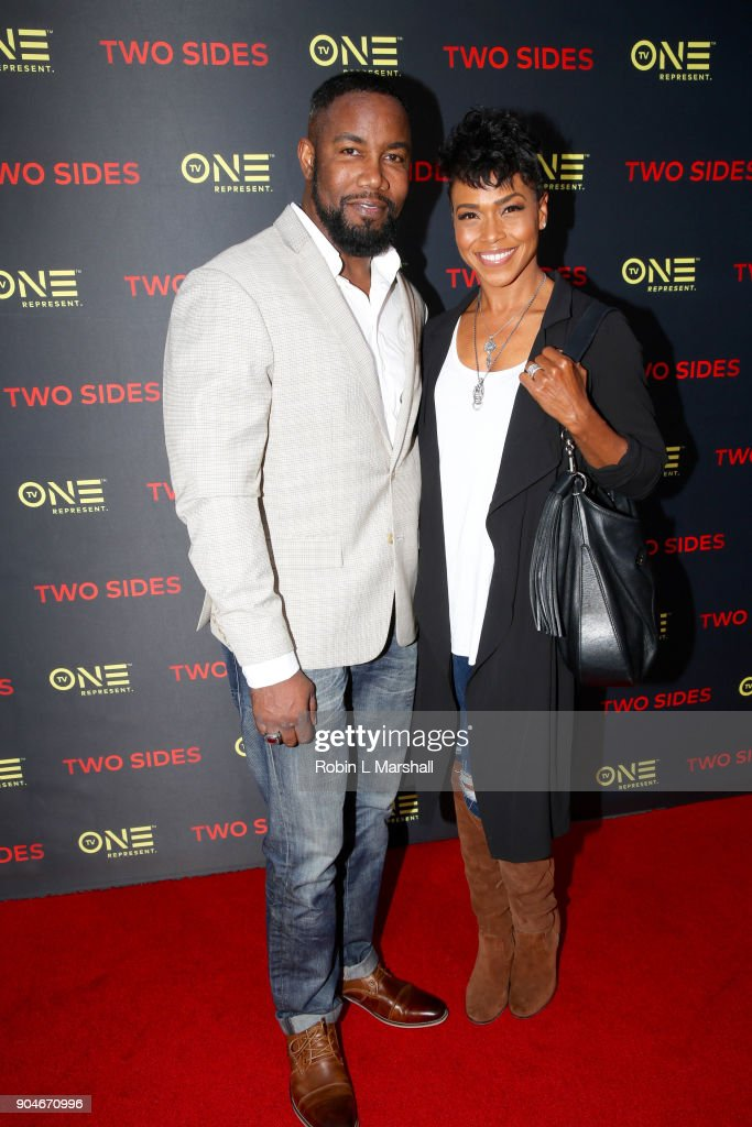 Michael Jai White and Gillian Iliana Waters attend the NAACP Screening and Social Justice Summit for TV One's 'Two Sides' at First AME Church on January 13, 2018 in Los Angeles, California.