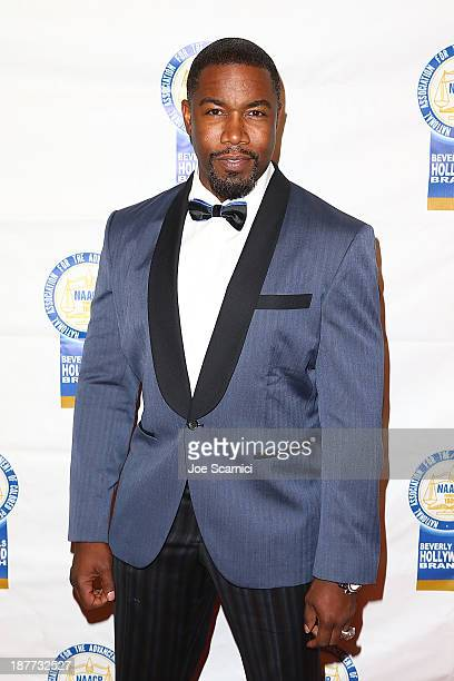 Michael Jai White arrives at the 23rd annual NAACP Theatre Awards at Saban Theatre on November 11 2013 in Beverly Hills California