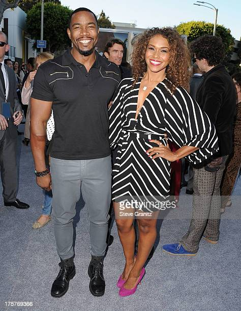 Michael Jai White arrives at the 'Elysium' Los Angeles Premiere at Regency Village Theatre on August 7 2013 in Westwood California