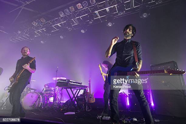 Michael James and Munaf Rayani of Explosions in the Sky performs at Vicar Street on April 20 2016 in Dublin Ireland