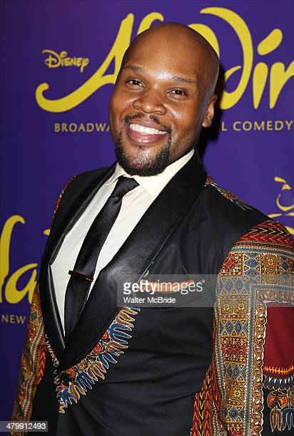 Michael James Scott attends the 'Aladdin' On Broadway Opening Night after party at Gotham Hall on March 20 2014 in New York City