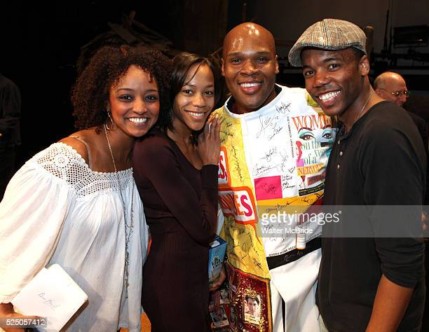 Michael James Scott with the cast crew attending the Broadway Opening Night Gypsy Robe for 'The Book Of Mormon' and the Gypsy Robe recipient Michael...