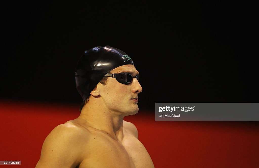 Michael Jamieson prepares to compete in the final of the Men's 200m Breaststroke during Day Four of The British Swimming Championships at Tollcross International Swimming Centre on April 15, 2016 in Glasgow, Scotland.