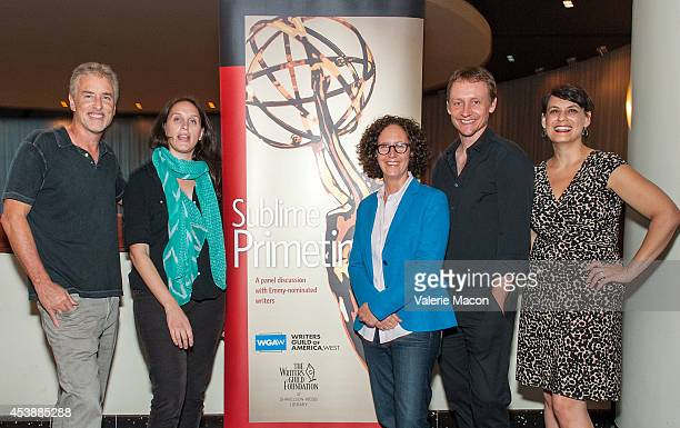 Michael Jann Holly Schlesinger Liz Friedman Alec Berg and Stacey Wilson attend WGAW Presents Sublime Primetime 2014 Honoring The 66th Annual...
