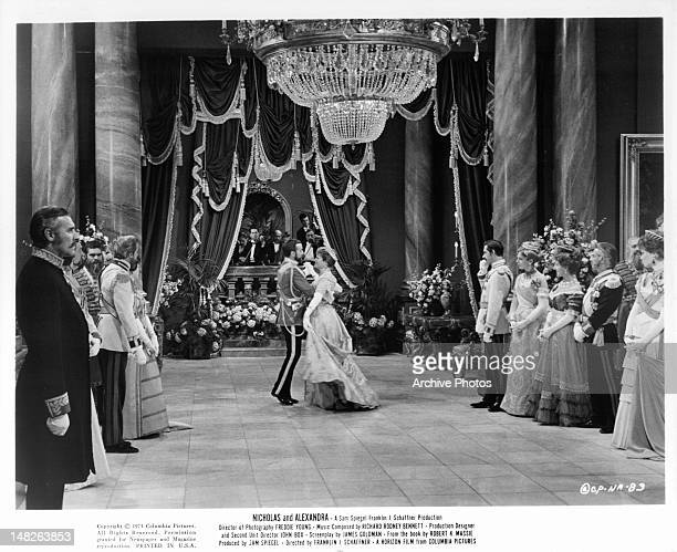 Michael Jayston and Janet Suzman dancing in a scene from the film 'Nicholas And Alexandra' 1971