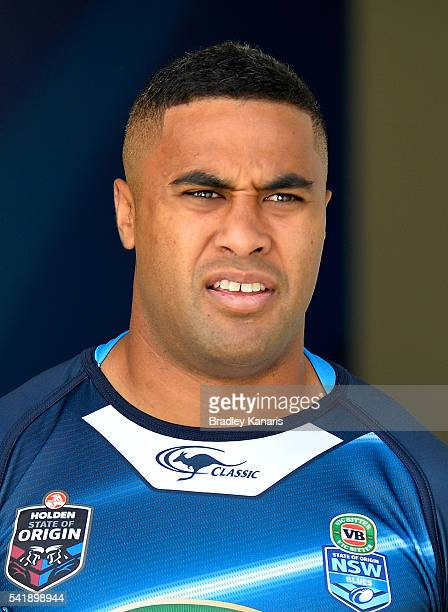 Michael Jennings enters the field of play during a New South Wales Blues State of Origin training session at Suncorp Stadium on June 21 2016 in...