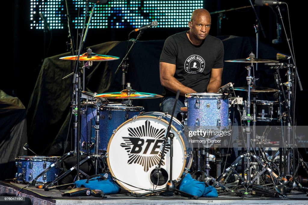 Michael Jerome of the band Better Than Ezra performs at The Greek Theatre on June 15, 2018 in Los Angeles, California.