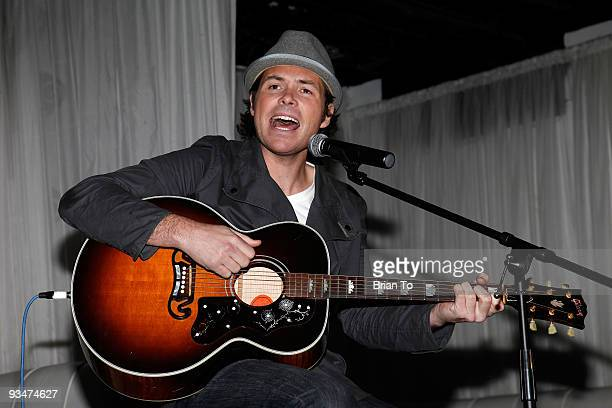 Michael Johns performs at the Holiday Of Hope TreeLighting Celebration And Benefit at Hollywood Highland Courtyard on November 28 2009 in Hollywood...
