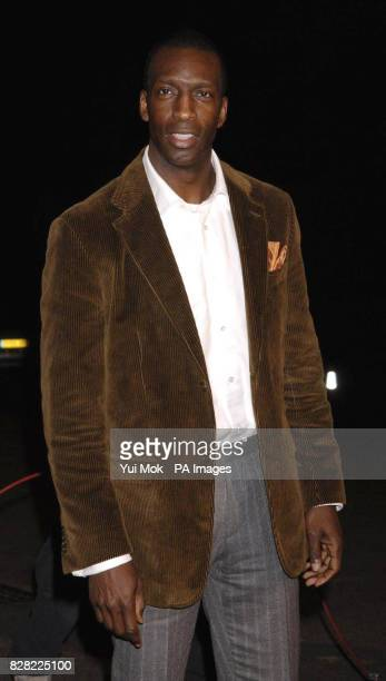 Michael Johnson arrives for the UK Music Hall Of Fame 2005 live final at the Alexandra Palace north London Wednesday 16 November 2005 The live final...